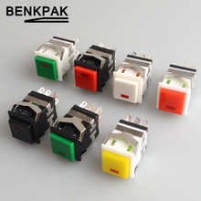 2PCS spring return momentary push button switch with lamp