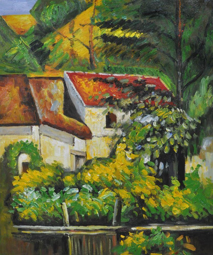 Поль Сезанн маслом на холсте дом Пьер ла Круа Гостиная настенная живопись украшение дома пейзаж Книги по искусству