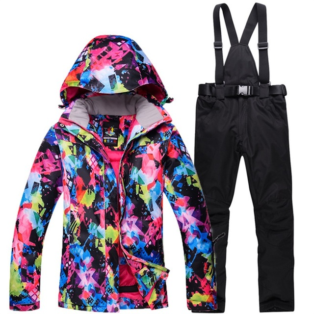 2017 New Women Snow Ski Suit Windproof Waterproof Breathable Female  Snowboard Clothes Teenagers Winter Snowboarding Jacket Pants 104b19f90