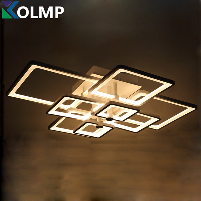 Remote control dimmable led ceiling lights fixture for living room remote control dimmable led ceiling lights fixture for living room bedroom modern acrylic dimming luminaire lighting aloadofball Images