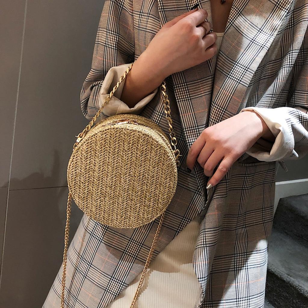 Bolso Ata grass bag Rattan Straw Bag Summer Bag Rond En Rotin Wicker Bag