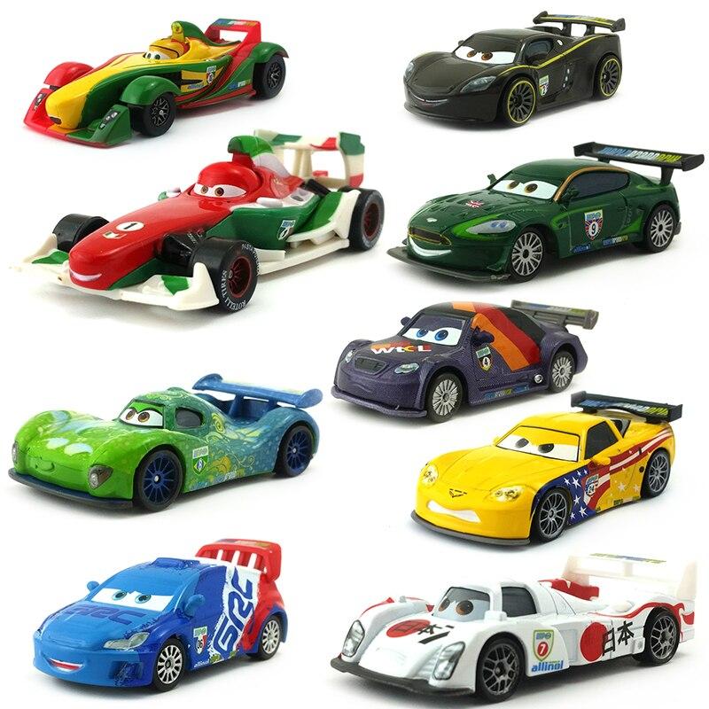 Disney Pixar Cars Racer Франческо Бернулли Карла велосо Шу Тодороки, металлическая литая игрушка, автомобиль 155, свободная, совершенно Новая и бесплатная доставка