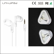 Linhuipad 3.5 Stereo white Mobile Earphone Computer MP3 Universal Bass Headphone Earbud for School library airlines hotel 500pcs