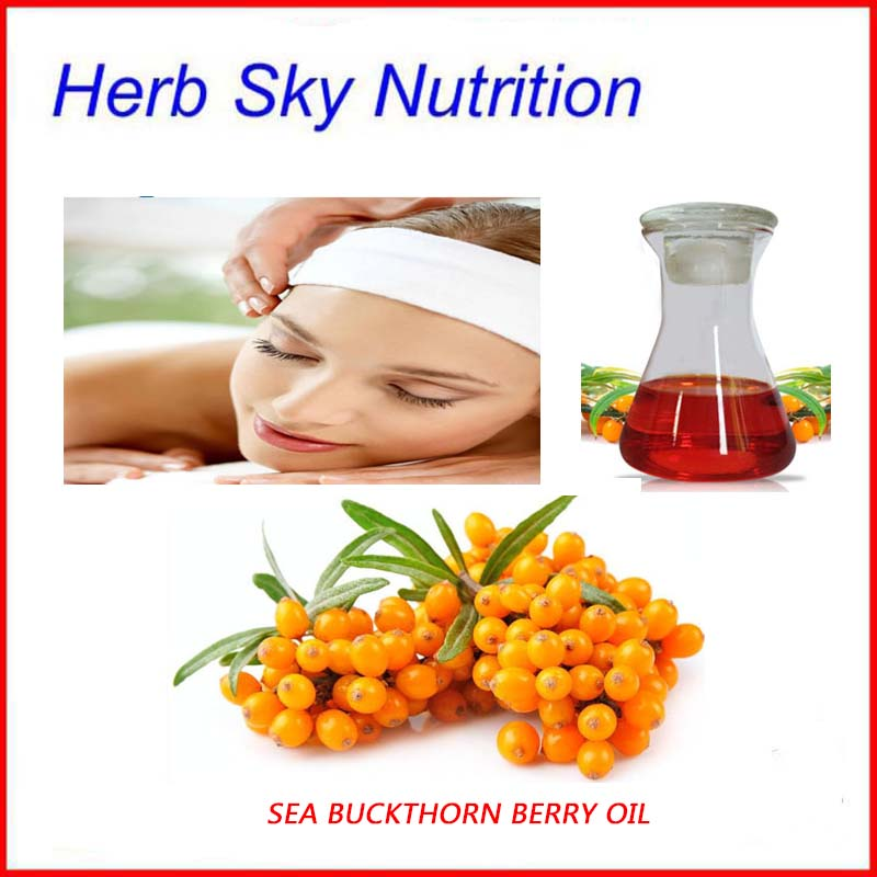Herb Sky Nutrition 100% pure organic sea buckthorn seed/berry oil fruit oil facial <font><b>skin</b></font> body care