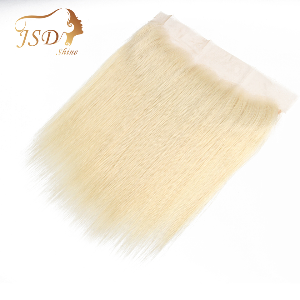 JSDshine Brazilian Straight Hair 13*4 613 Lace Frontal Closure Ear To Ear Frontal 100% Human Remy Hair Lace Closure No Tangle