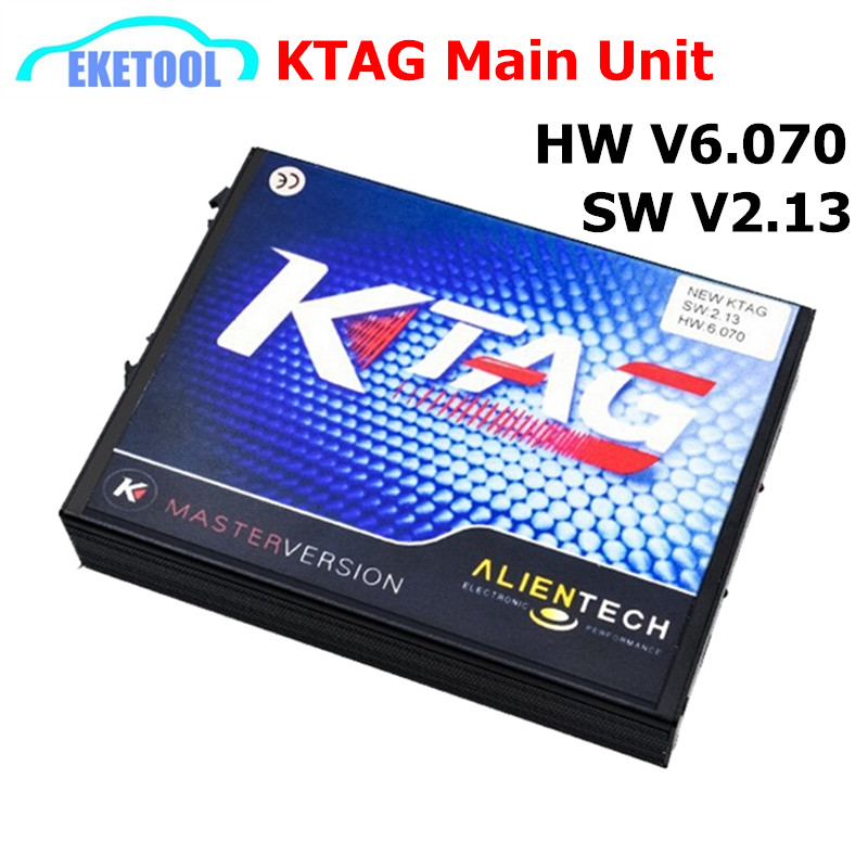 Prix pour 2017 Auto Professionnel ECU Programmation Unité Principale KTAG V2.13 HW6.070 100% J-Tag Compatible K-TAG Non Jetons Limitée K TAG Maître