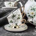 Костяной фарфор, кофейная чашка, керамическая чайная чашка, Европейский чайный набор, английский послеобеденный чайный набор, чашка с блюдц...