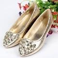 Мода Горный Хрусталь Балетные туфли на Плоской Подошве Женщина Эспадрильи Острым Носом Дамы Мокасины Ballerines Femme Chaussures Ботинки NX22