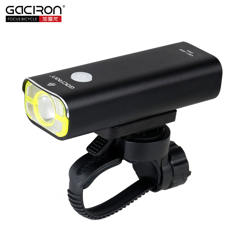 GACIRO 400Lumens Bicycle Headlight Bike Front Lighting Handlebar Quick Mount XPG LED Lamp 2500mAH Battery USB
