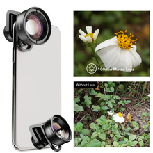 APEXEL HD Optic 10x Macro Lens 100mm Super Macro Mobile Phone Camera Lens Camcorder For iPhone x xs Samsung All Smartphone