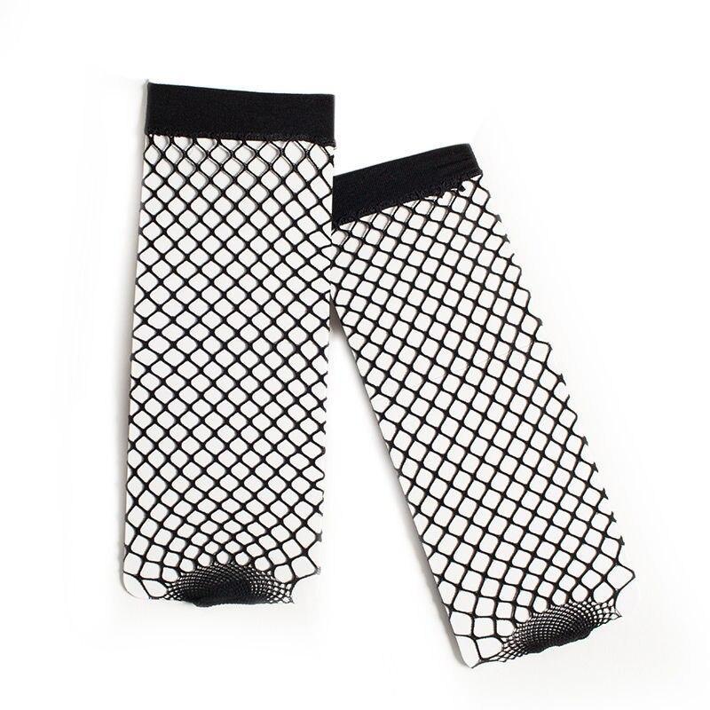 Summer Women White Fishnet Socks Harajuku Fashion Solid Black