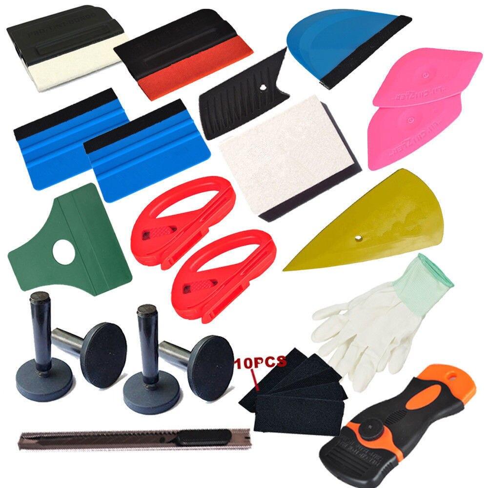 Économie Combo Pro trousse à outils housse de voiture en vinyle raclette outils décalcomanie vinyle film plastique applicateur
