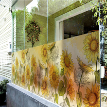 Window Stickers Decorative Frosted Sliding-Door Opaque Transparent Cabinet UV-41 Balcony