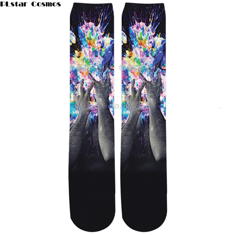 PLstar Cosmos 2018 New Fashion 14 styles Knee High Socks Artistic Bomb Funny 3D Print Men/Women Hipster Socks 1