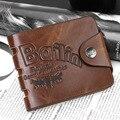 2016 caliente venta del diseño corto billetera vendimia de la alta calidad cerrojo hombres carteras con tarjeta titular de la cartera para hombre monedero Carteira Masculina