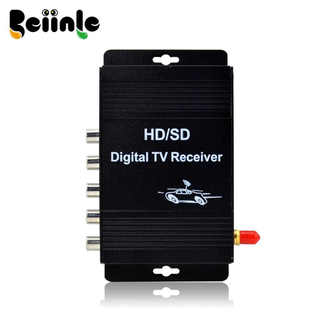 9487006054f5d Sintonizador de carro de Quatro Vias Dual Antena ATSC-MH TV Digital Box  receptor Para EUA