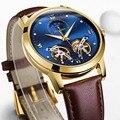 Мужские автоматические механические часы с двойным турбийоном  роскошные кожаные часы  модные деловые спортивные часы  мужские часы  2019