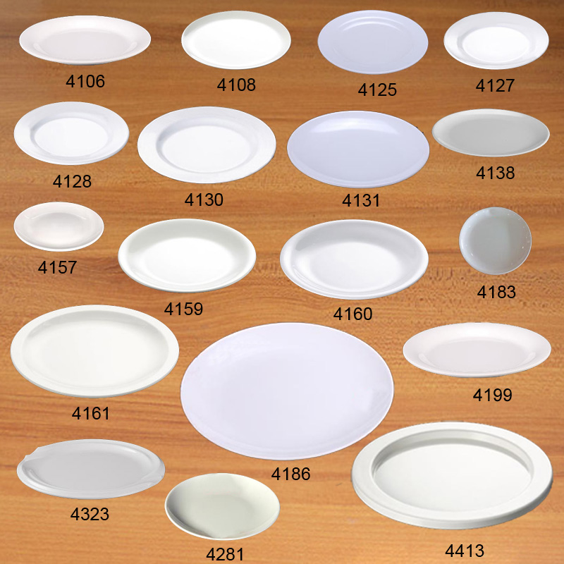 Plate Dish Melamine Dinnerware Round Flat Plate Chain Restaurant A5 Melamine Dishes Melamine Tableware Dinner Plate