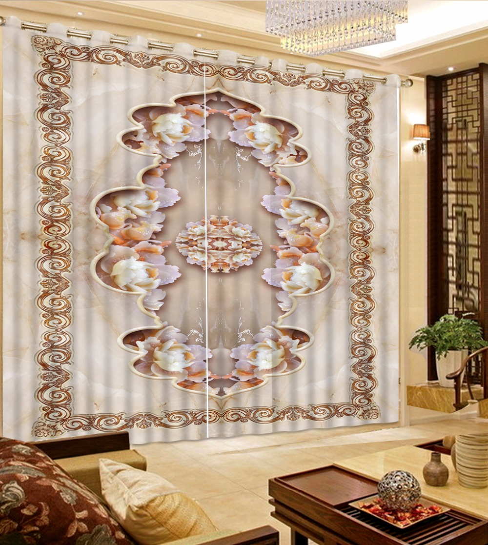 Thick 2017 European Pattern 3D Curtains Marble flower pattern Curtain Fabric Bedroom Living room Curtains Cotton DrapesThick 2017 European Pattern 3D Curtains Marble flower pattern Curtain Fabric Bedroom Living room Curtains Cotton Drapes