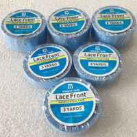 3 yards Blau spitze front unterstützung klebeband für perücke toupet band doppelseitigen klebeband für band haar verlängerung