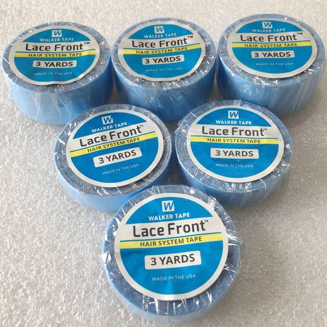 3 ярдов синяя кружевная лента для парика-накладка Двусторонняя изолента для ленточное наращивание волос