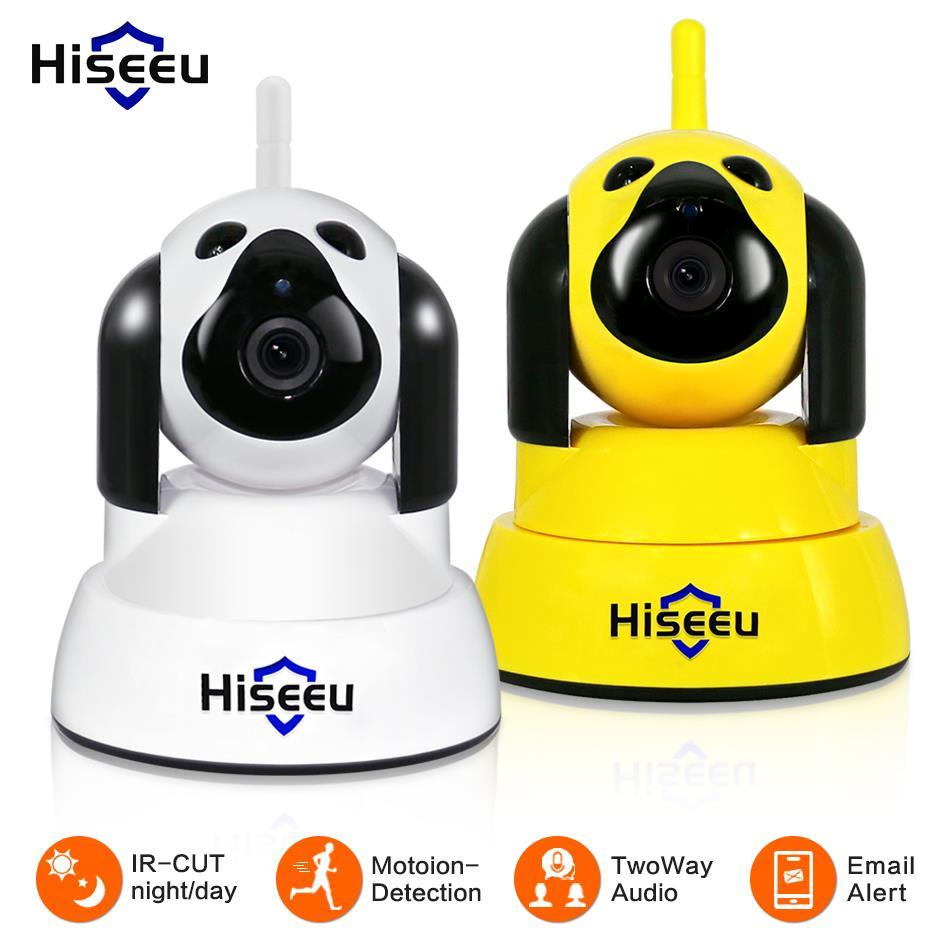 Hiseeu hogar de la cámara de seguridad IP inalámbrica Wi-Fi inteligente perro wifi cámara de vídeo de 720 P noche CCTV Indoor bebé monitor