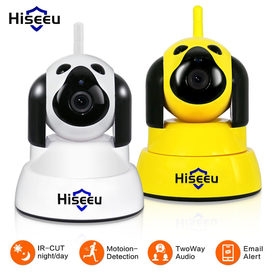 hiseeu Home Security IP Camera Wi Fi Wireless Smart Pet Dog wifi Camera video Surveillance 720P Night CCTV Indoor Baby Monitor-in Surveillance Cameras from Security & Protection