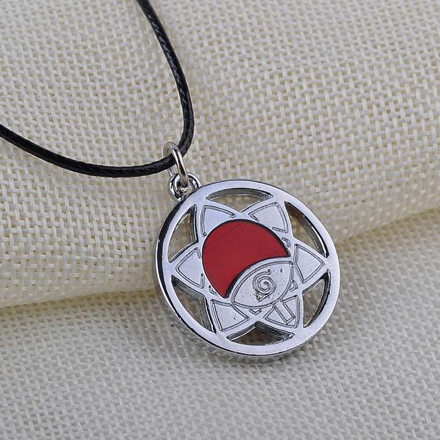 Naruto symbol necklace Women Men Leather chain Necklaces Pendants Naruto new Design Alloy Simple Necklace