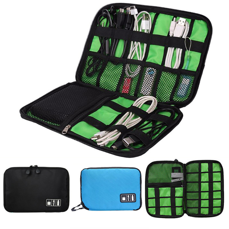 For Hard Drive Organizers For Earphone Cables Digital Storage Bag USB Flash Drives Travel Case Electronic Accessories Bag 1PCS