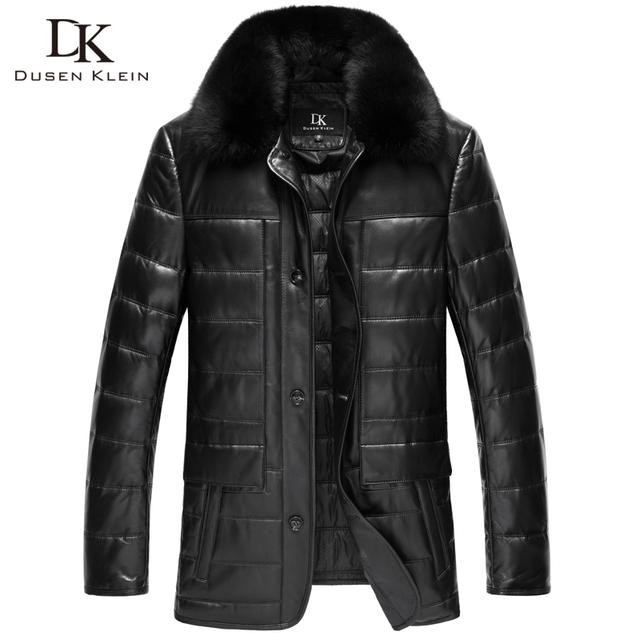 Piloto marca hombres chaqueta de cuero real de Alta calidad de diseñador de Moda de piel de oveja ropa de cuero Marrón 13N1350