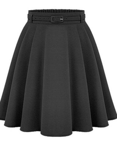 Women's Casual Medium Knee-length Skirts Retro Stylish Female High Waist Ball Gown Skirts Femininas Vintage Women Long Skirt