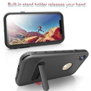 Image 4 - 360 pełna ochrona prawdziwa wodoodporna obudowa dla iPhone 11 XS XR XS pro max skrzynki pokrywa pancerz dla iPhone x xs max Funda sprawa odporna na wstrząsy