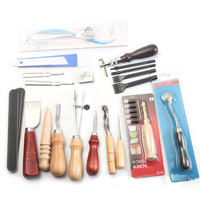 Multifunctional Handmade Leather Craft Hand Stitching Sewing Tool Kit Sets DIY Tools Drop Shipping