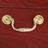 96mm Modern Simple Fashion Shaky Drop Rings Furniture Handles Gold Drawer Cabinet Pulls Knobs Handles 3