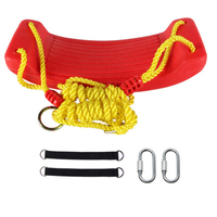 Big Kids Plastic Bending Board Swing Seat with Thickened Colorful Rope Indoor Outdoor Sports Hanging Playground Toy Swing Set