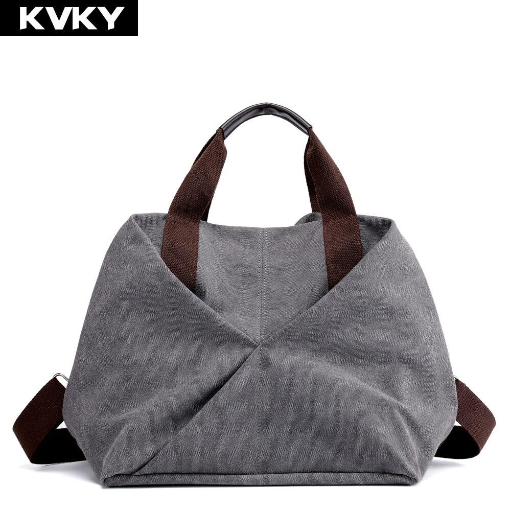 Canvas Handbags  Solid Hobos Female Shoulder Bags Multi-Pocket Crossbody Bags Casual Totes Bolsas