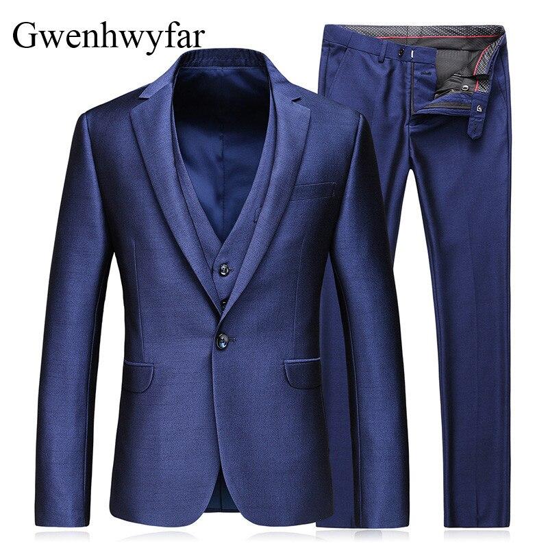 Gwenhwyfar 2018 Notch Costumes Mens deux 3 Bleu Noir Color De Un Pièce Picture Pour Violet Hommes Slim Fit Smoking Costume Mariage Collar Les Botton Color picture dCshQrxotB