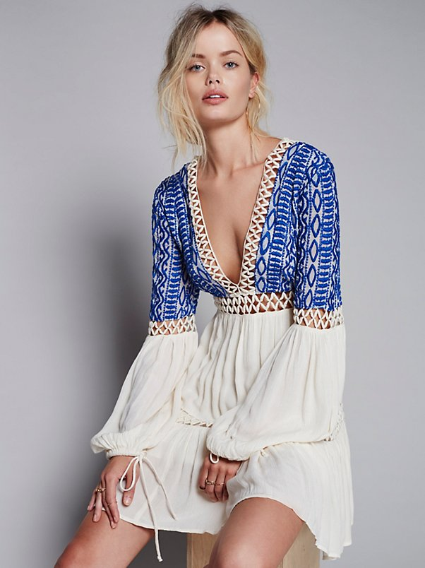 UK British Women Embroidery Hippie Boho Casual Dress DOW061