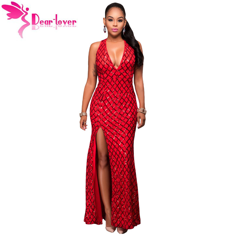 buy dear lover sequin long party formal dress sexy red gold diamond key hole. Black Bedroom Furniture Sets. Home Design Ideas