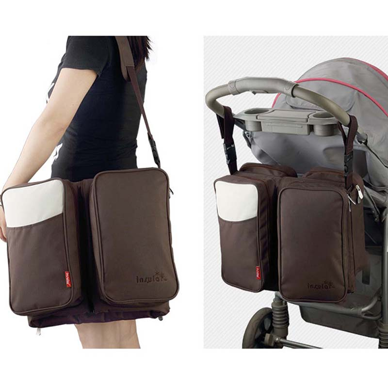 Messenger Diaper Bag Large Capacity Polyester Mummy Bags Hobos Portable Baby Stroller Bags Nappy Changing Travelling Baby Bags fashion cute panda baby mummy diaper nappy bags keep fresh lunch breast milk bag thermal portable travel picnic hobos baby care
