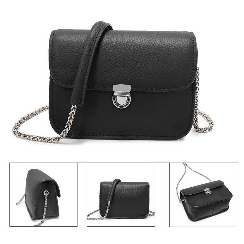 7b8bfc292e34 ... Bestbaoli Модные маленькие сумки из натуральной кожи для женщин Высокое  качество Личи шаблон мягкая сумка женский ...