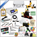 Factory Complete Tattoo Kit 1 Pro Rotary Machine1 cast tattoo Guns7 Inks Power Supply Needle Grips Practice SkinTTKS-032