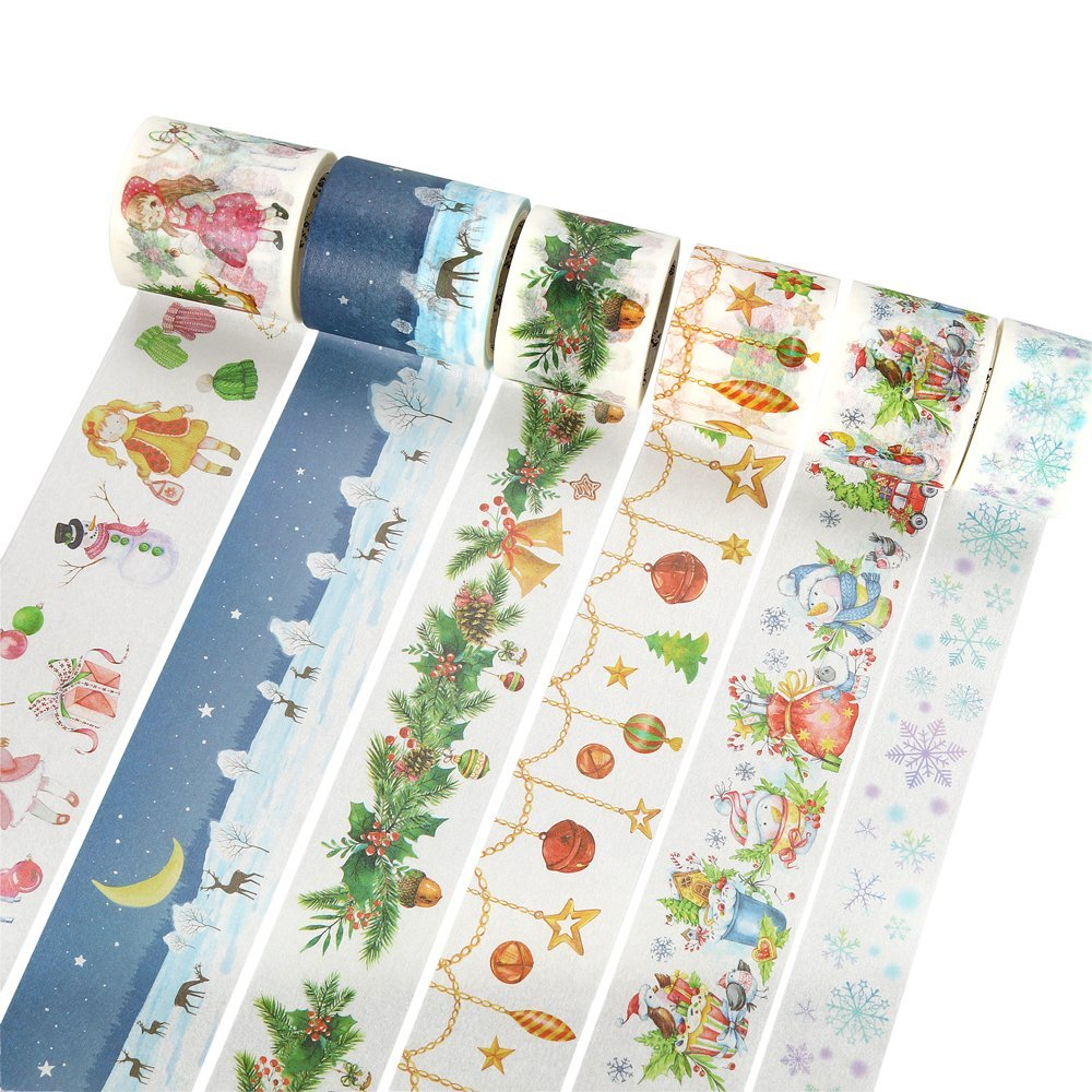 Christmas Theme Collection Washi Tape Diy Decoration Scrapbooking Planner Masking Tape Adhesive Tape Label Sticker 3 5 4cm 5m beautiful fairy tale horse washi tape diy decoration scrapbooking planner masking tape adhesive tape label sticker