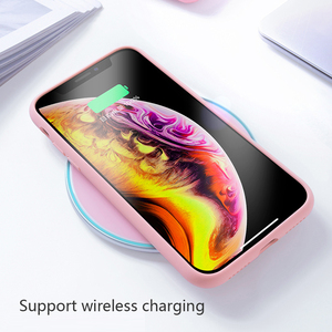 Image 2 - Solid Silicone Phone Case For iPhone XR X XS Max 6 6S 7 8 Plus i S iPhone7 iPhoneXR iPhone7 iPhoneX XsMax 7Plus 8Plus Soft Cover