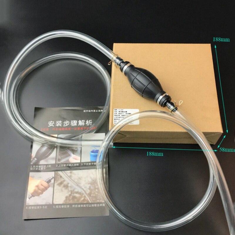 10 millimetri Manuale Pumper Primer, base trucco Lampada Acqua Olio di Trasferimento Diesel Pompa del Liquido PVC Manuale di Pompaggio Tubo di Pompa di Benzina