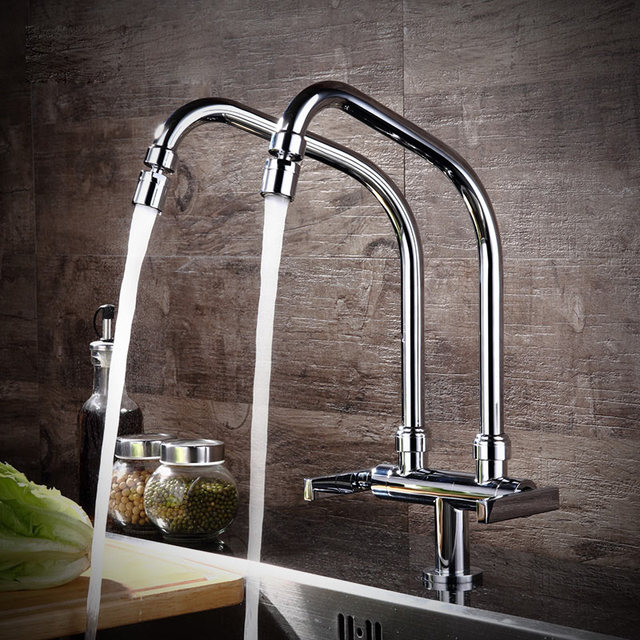 All Copper Kitchen Faucet Single Double Tap Vegetable Washing