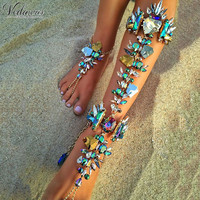 Vedawas 1PCS Boho Hot Cheap Sexy Leg Chain Ankle Bracelets Sandals Beach Foot Jewelry Summer Luxury