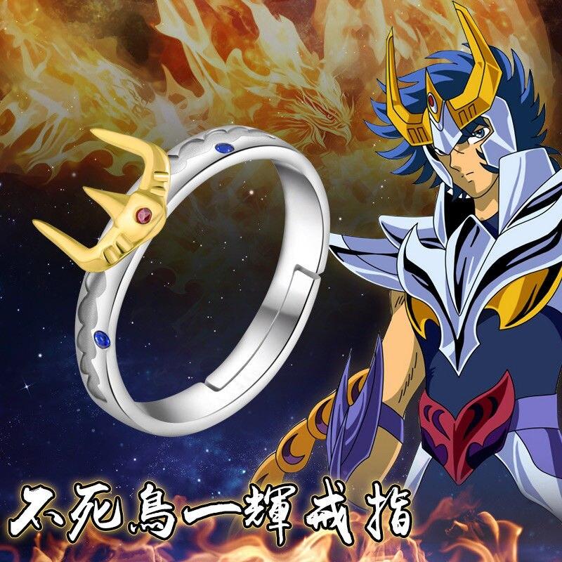 Anime Saint Seiya Cloth Myth Leonis Ikki Cloth Ring 925 Sterling Silver Cosplay Gift Usa 7/8/9(China)