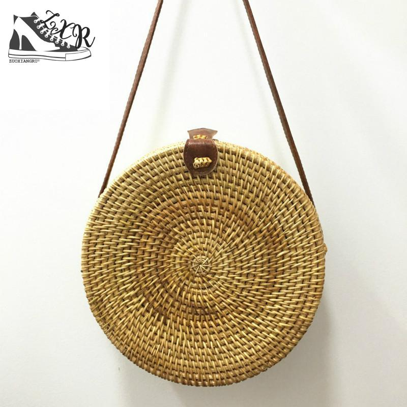 Luxury Designer Women Round Bamboo Bag Summer Straw Bag Travel Clutch Women Famous Brand Luxe Beach Bag For Bamboo Handbags все цены