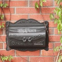 Маленький почтовый ящик в деревенском стиле из алюминиевого сплава, металлический почтовый ящик для газет, почтовый ящик, настенный почтовый ящик для дома, сада, двора